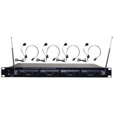 4-Microphone VHF Wireless Lavalier/Headset System