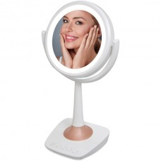 5-Inch Lighted Makeup Mirror and Bluetooth(R) Speaker