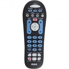 3-Device Big-Button Universal Remote with Streaming & Dual Navigation (Black)