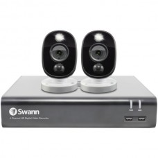 1080p Full HD Surveillance System Kit with 4-Channel 1 TB DVR and Two 1080p Cameras
