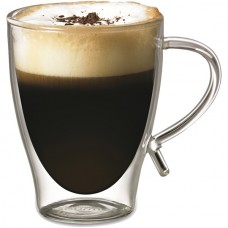 12-Ounce Double-Wall Glass Coffee Cup