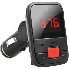 Bluetooth(R) FM Transmitter with Large Red Display