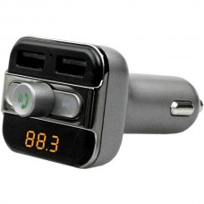 Bluetooth(R) FM Transmitter with Dual USB and Multifunction Knob