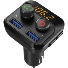 Bluetooth(R) FM Transmitter with Dual USB Ports and Knobs