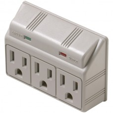 3-Outlet 270 Joules Plug-In Surge Protector