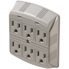 6-Outlet 270 Joules Plug-In Surge Protector