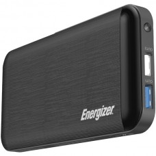 10,000 Series Fast-Charging Power Bank with 3 USB Ports (Black)