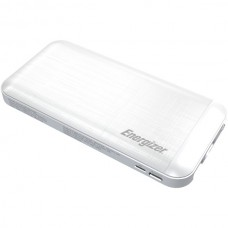 10,000 Series Fast-Charging Power Bank with 3 USB Ports (White)