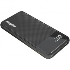 10,000 Series Fast-Charging Power Bank with 2 USB Ports (Black)