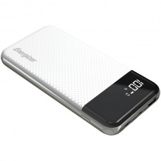 10,000 Series Fast-Charging Power Bank with 2 USB Ports (White)