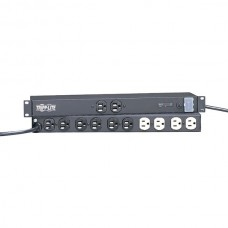 12-Outlet Rack-Mount ISOBAR(R) Premium Surge Protector with Locking Switch Cover