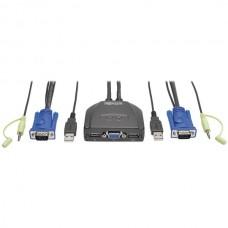 2-Port USB/VGA Cable KVM Switch
