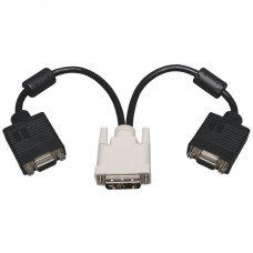 DVI to VGA Splitter Adapter Cable, 1ft
