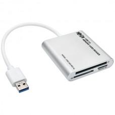 USB 3.0 Memory Card Reader/Writer, Aluminum Case