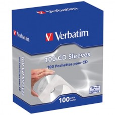 CD/DVD Paper Sleeves with Clear Window, 100 pk