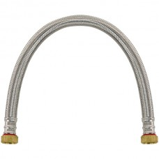 Braided Stainless Steel Water Heater Connector, 1.5ft