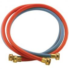 2 pk Red/Blue EPDM Washing Machine Hoses, 4ft