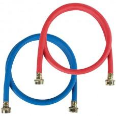 2 pk Red/Blue EPDM Washing Machine Hoses, 5ft