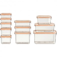 22-Piece Food Storage Container Deluxe Pack (Clear)